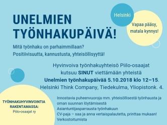 Unelmien työnhakupäivä Helsinki_Piilo-osaajat