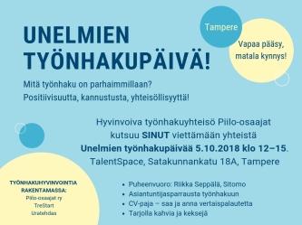 Unelmien työnhakupäivä Tampere_Piilo-osaajat